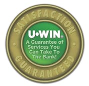 UWIN satisfaction guarantee badge