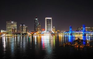 Jacksonville at night.